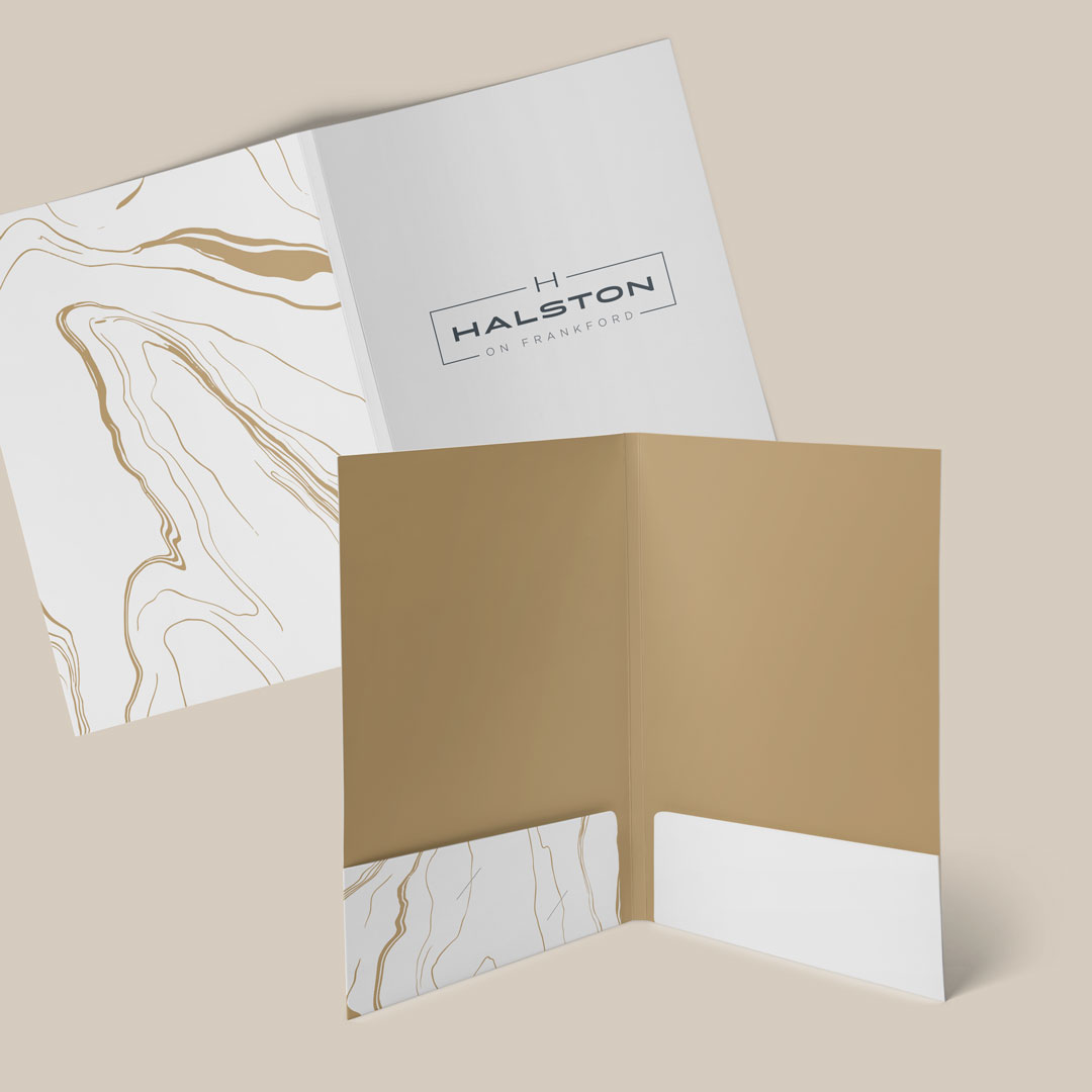 branded folder design