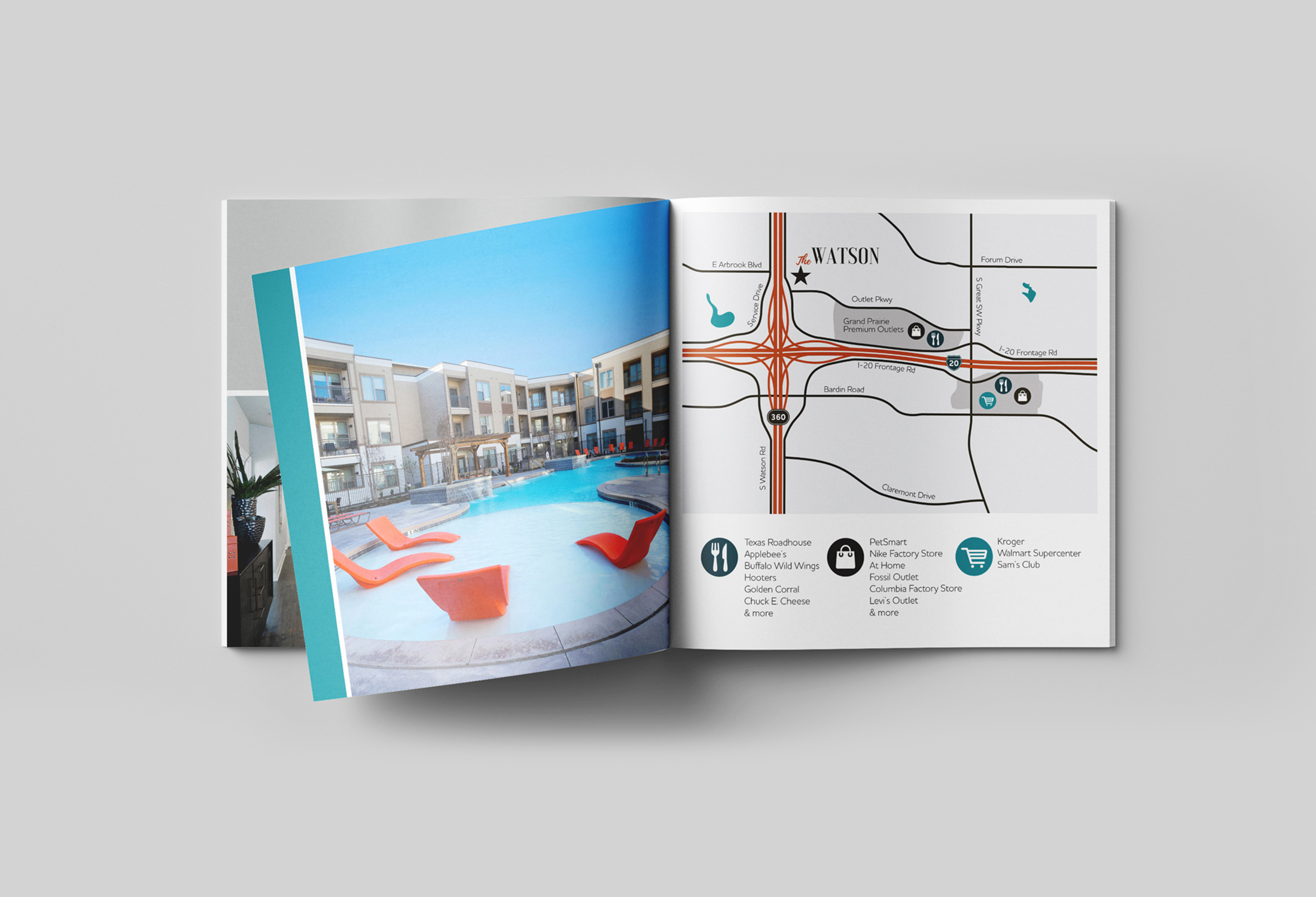 An Apartment Marketing Brochure Design for Print and Digital