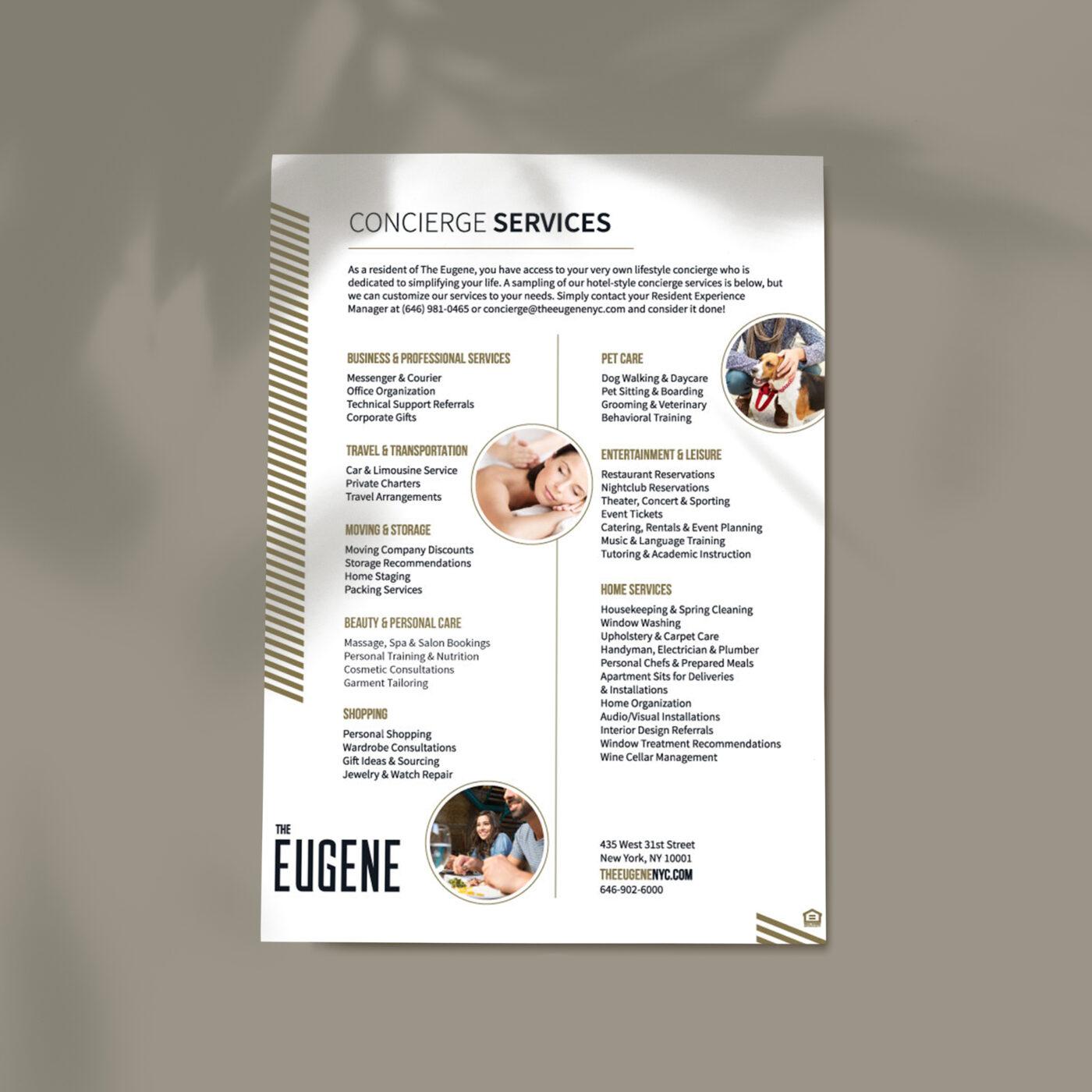 concierge services flyer design
