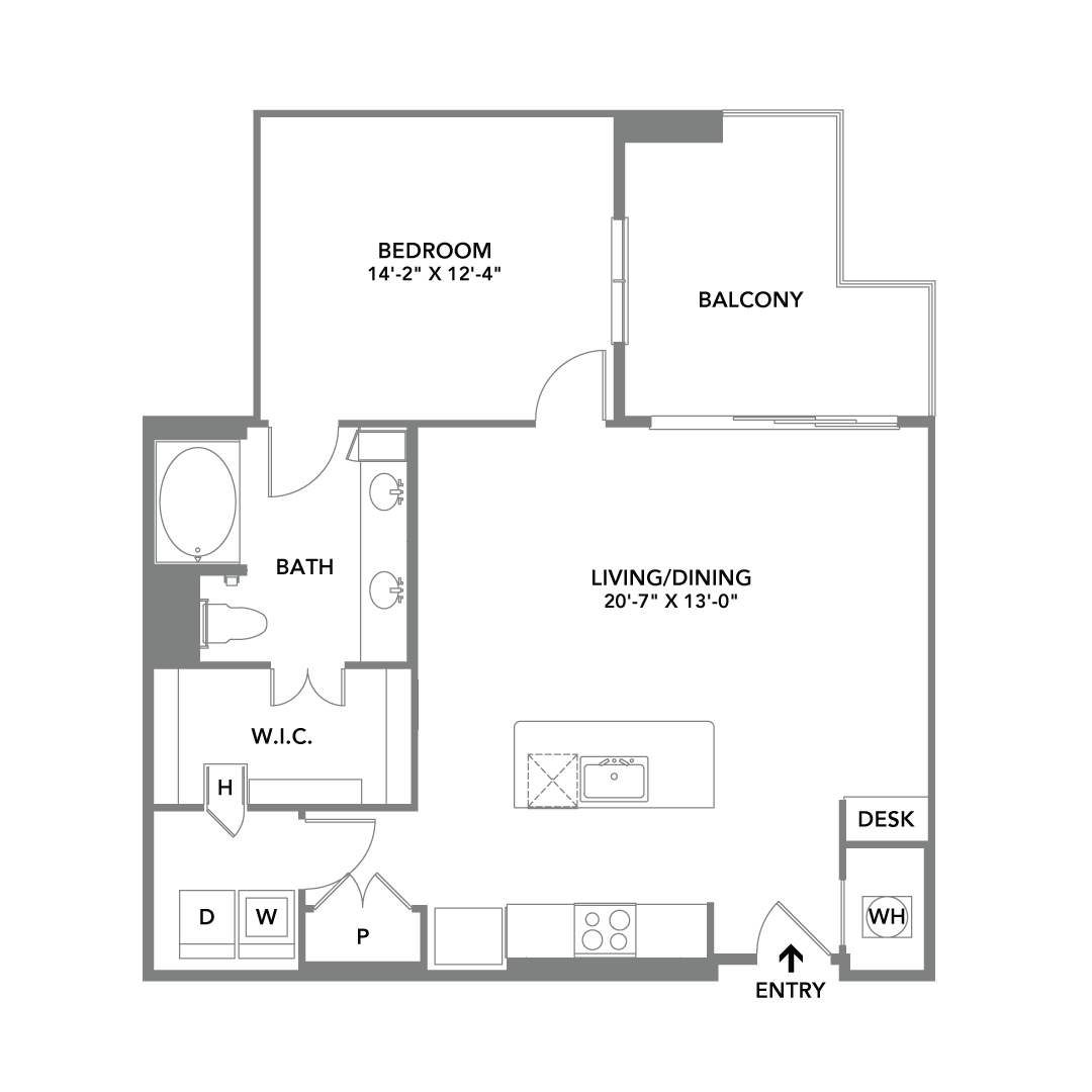 Floor Plans for Apartments in 2D and 3D