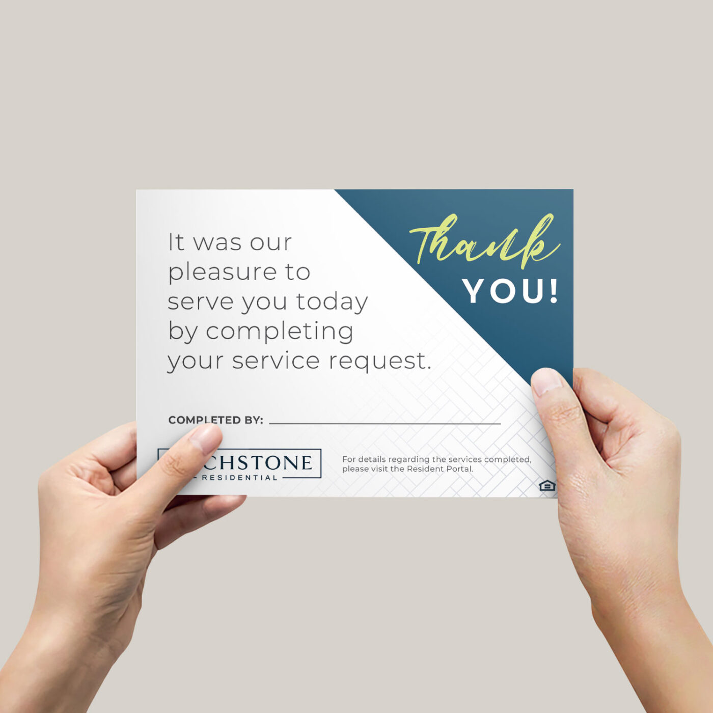 marketing collateral maintenance card
